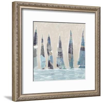 Muted Sail Boats Square I-Dan Meneely-Framed Art Print