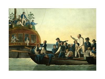 Mutineers Turning Lieutenant Bligh and Part of the Officers and Crew from His Majesty's Ship the Bo-Robert Dodd-Giclee Print