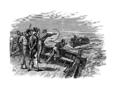 Mutiny of the Crew of HMS Bounty, 28 April 1789--Giclee Print