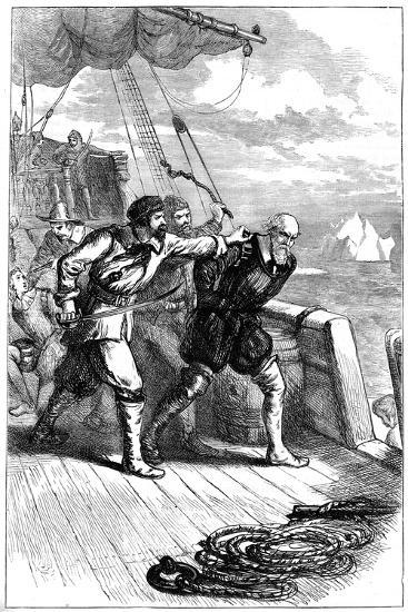 Mutiny on Henry Hudson's Ship, 1611--Giclee Print
