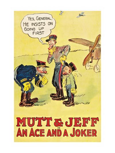 Mutt and Jeff - an Ace and a Joker--Art Print