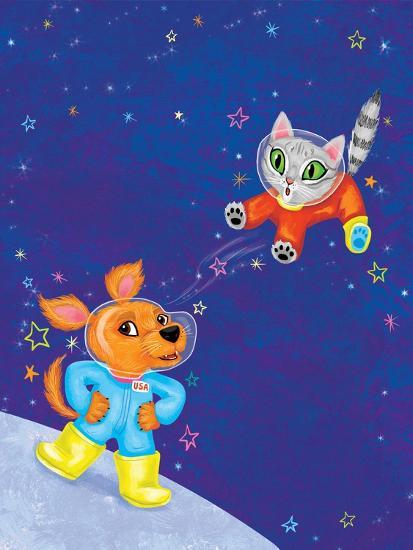 Mutt on the Moon - Jack & Jill-Elisa Chavarri-Giclee Print
