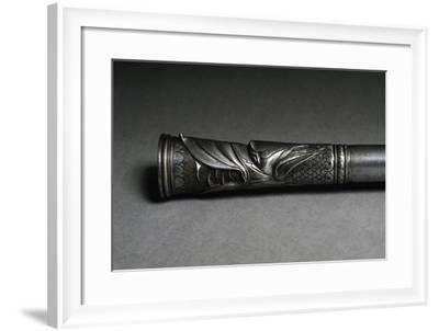 Muzzle of Arquebus Barrel Engraved with French Lilies and Head of Dragon--Framed Giclee Print