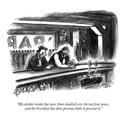 """My alcohol intake has more than doubled over the last four years, and the?"" - New Yorker Cartoon-Frank Cotham-Premium Giclee Print"