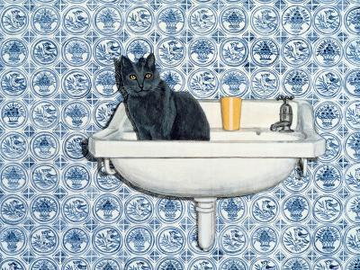 My Bathroom Cat-Ditz-Giclee Print