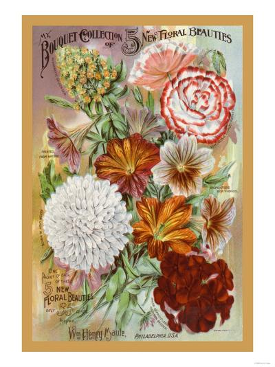 My Bouquet Collection of Five New Floral Beauties--Art Print