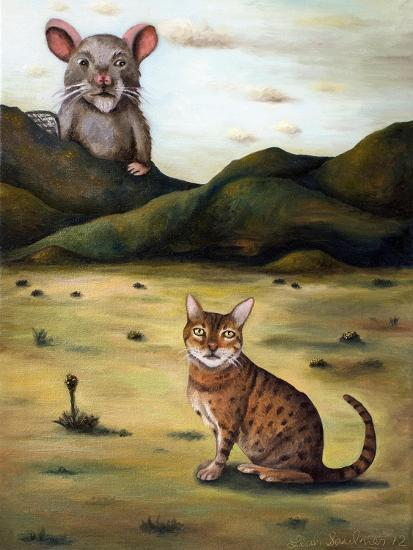 My Cat's Worst Nightmare-Leah Saulnier-Giclee Print