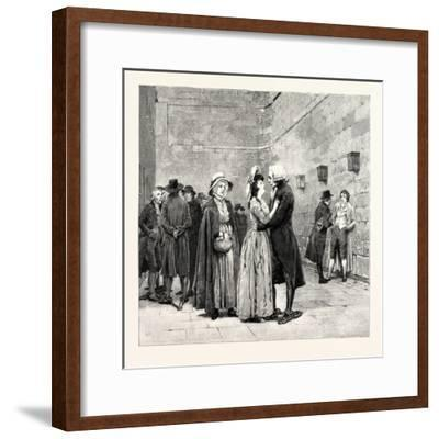 My Child My Lucinda' Said the Good Man Kissing Her Fondly--Framed Giclee Print