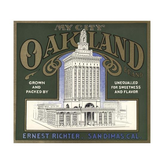 My City Oakland Brand - San Dimas, California - Citrus Crate Label-Lantern Press-Art Print