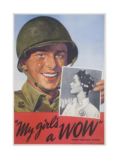 My Girl's a Wow Poster-Adolph Treidler-Giclee Print