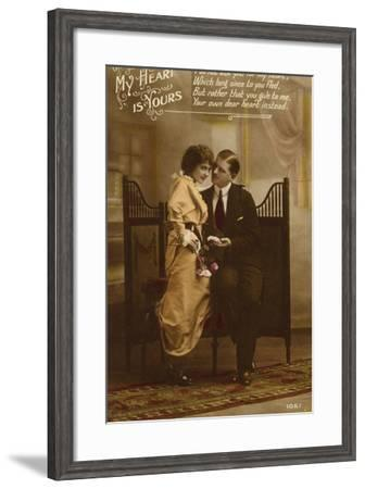 My Heart Is Yours--Framed Photographic Print
