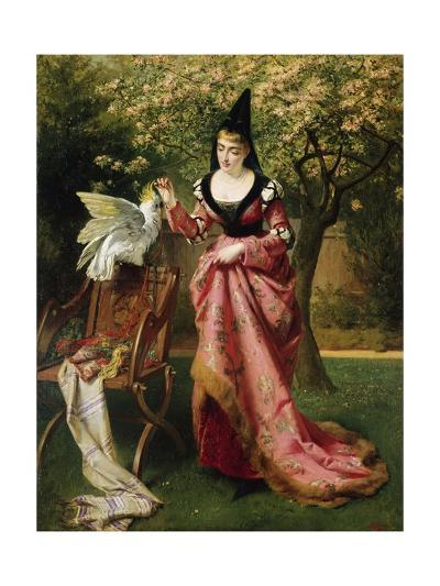 My Lady's Parrot-E.C. Barnes-Giclee Print