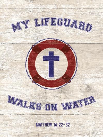 My Lifeguard Walks - Nautical-The Vintage Collection-Giclee Print