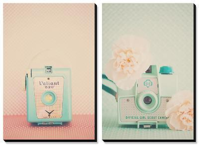 My Little Baby Blue, Peaches and Mint-Laura Evans-Canvas Art Set