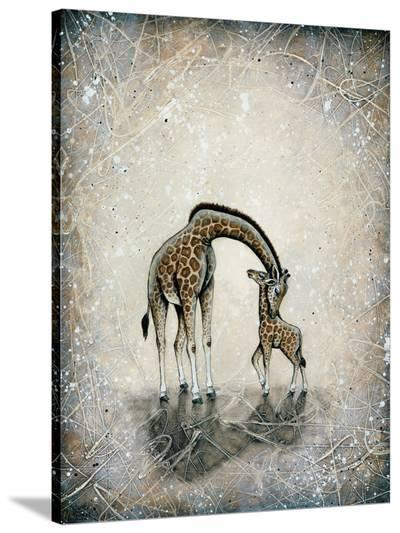 My Love for You - Giraffes-Britt Hallowell-Stretched Canvas Print