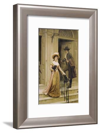 My Next-Door Neighbour, 1894-Edmund Blair Leighton-Framed Giclee Print