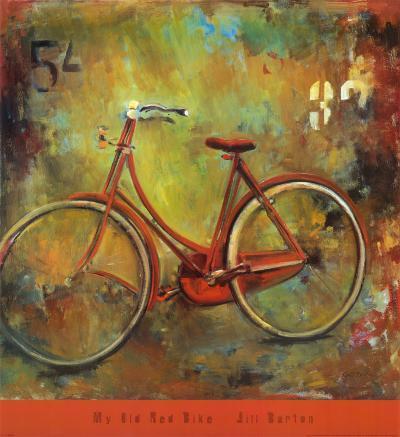 My Old Red Bike-Jill Barton-Art Print
