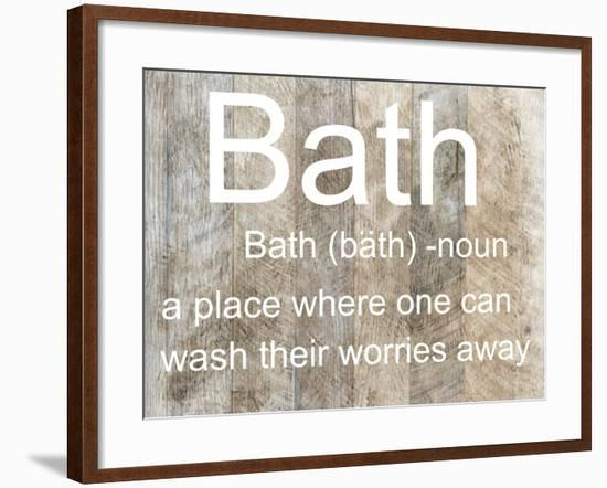 My Place of Bath-Sheldon Lewis-Framed Art Print