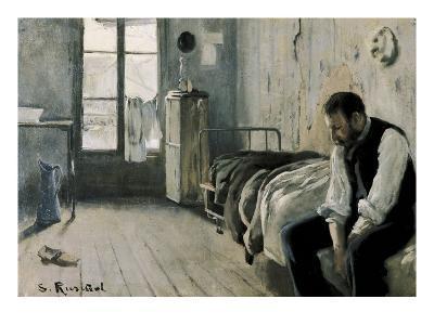My Room in Paris-Santiago Rusinol-Art Print