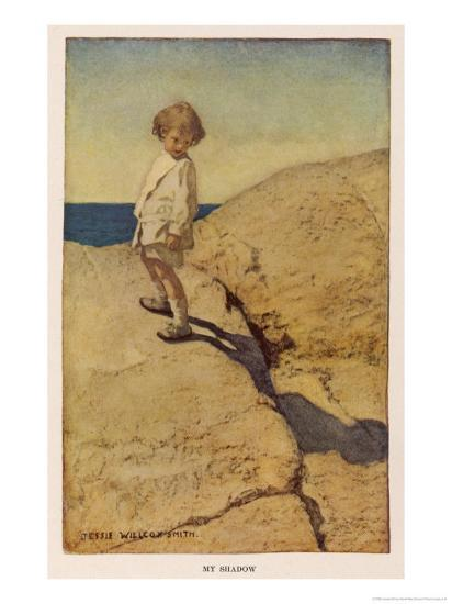 My Shadow by Robert Louis Stevenson-Jessie Willcox-Smith-Premium Giclee Print