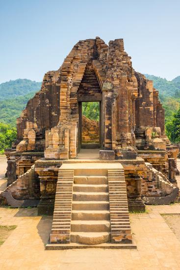 My Son Ruins, Cham Temple Site, Duy Xuyen District, Quang Nam Province, Vietnam-Jason Langley-Photographic Print