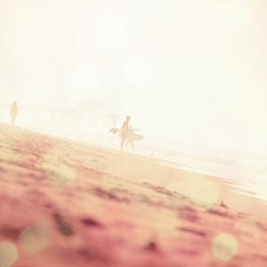 Beach Scene with Surfer in USA by Myan Soffia
