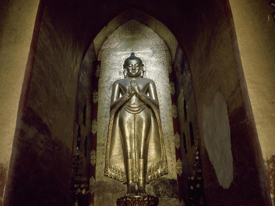 Myanmar, Bagan, Divinity Statue in Ananda Temple, 11th Century--Giclee Print