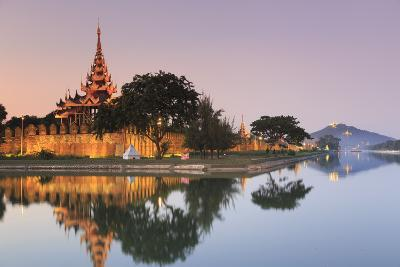 Myanmar (Burma), Mandalay, Moat and City Fortress Walls-Michele Falzone-Photographic Print