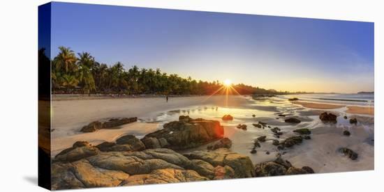 Myanmar (Burma), Rakhine State, Ngapali Beach-Michele Falzone-Stretched Canvas Print