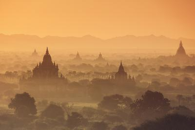 Myanmar (Burma), Temples of Bagan (Unesco World Heritage Site)-Michele Falzone-Photographic Print