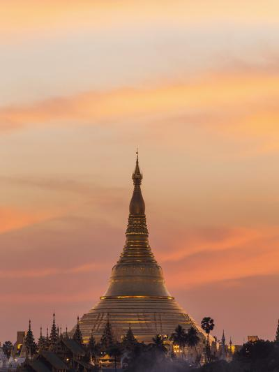 Myanmar (Burma), Yangon, Shwedagon Pagoda-Steve Vidler-Photographic Print