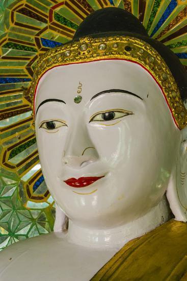 Myanmar. Mandalay. Sagaing Hill. Thirty Caves Temple. Buddha-Inger Hogstrom-Photographic Print