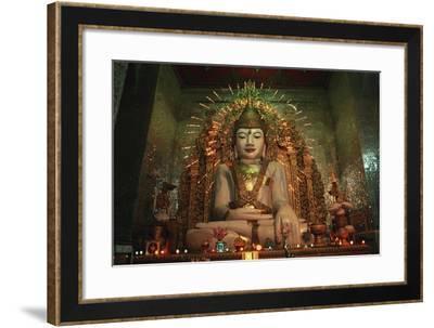Myanmar, Mandalay, Statue in Shwenandaw Pagoda--Framed Giclee Print