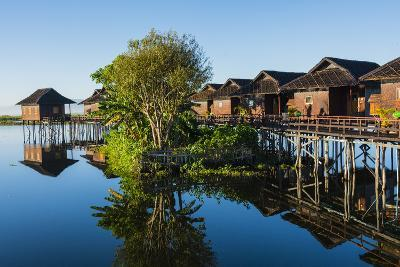 Myanmar. Shan State. Inle Lake. Golden Island Cottages Floating Hotel-Inger Hogstrom-Photographic Print