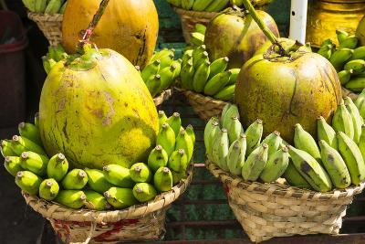 Myanmar. Yangon. Botataung Pagoda. Offerings of Fruit for Sale-Inger Hogstrom-Photographic Print