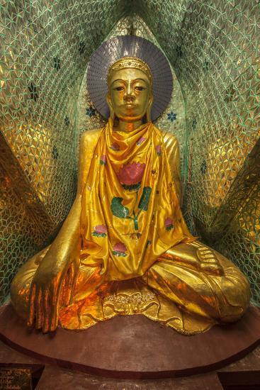 Myanmar, Yangon. Buddha Statue in Shwedagon Temple-Jaynes Gallery-Photographic Print