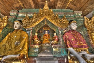 Myanmar, Yangon. Buddha Statues in Shwedagon Temple-Jaynes Gallery-Photographic Print