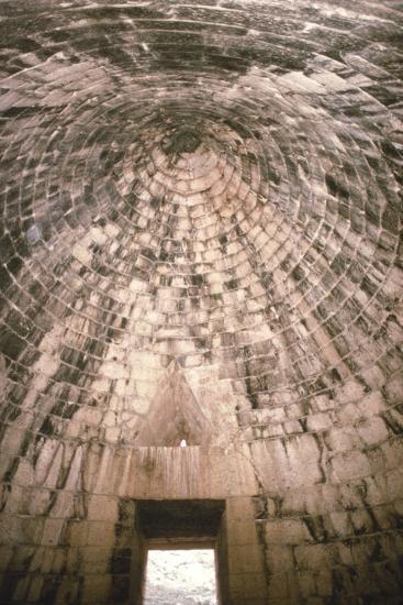 Mycenae Interior of Treasury of Atreus, Greece, c1600BC-c1200BC-Unknown-Photographic Print