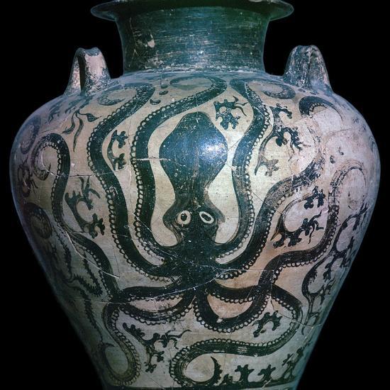 Mycenaean amphora with an octopus, 15th century. Artist: Unknown-Unknown-Giclee Print