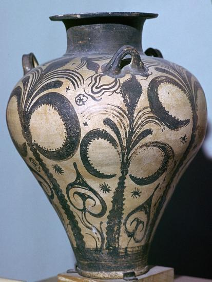 Mycenaean amphora with plant forms, 15th century. Artist: Unknown-Unknown-Giclee Print