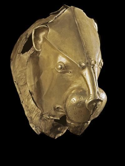 Mycenaean Art : Gold Lion's Head Rhyton--Photographic Print