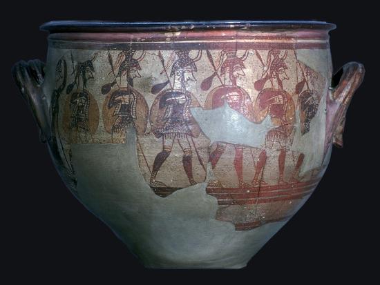 Mycenaean 'Warrior Vase', 12th century-Unknown-Giclee Print