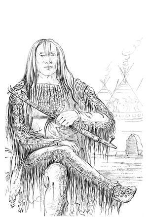 Chief of the Blackfoot Nation, 1841