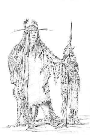 Portrait of 'Eagle Ribs, Native American Man, 1841