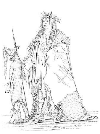 Portrait of Iron Horn, Native American Man, 1841