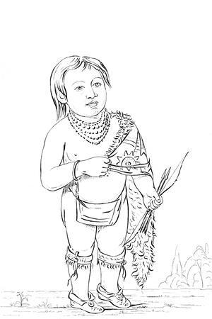 Six Year Old Native American Chief, 1841