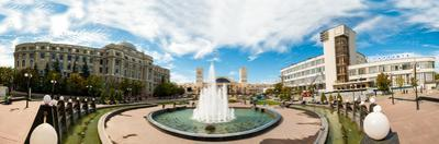 Panorama of the Station Square in Kharkiv, Ukraine, Europe by Mykola Iegorov