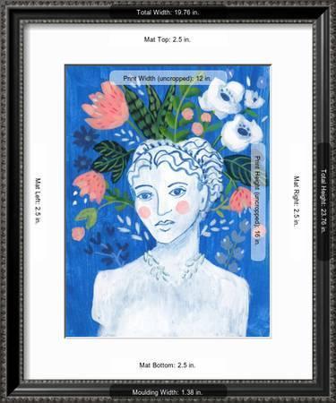 Mykonos Bust Ii Art Print Sharon Montgomery Art Com