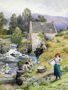 A Mill Pool by Myles Birket Foster
