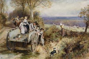 A Peep at the Hounds: 'Here They Come' by Myles Birket Foster